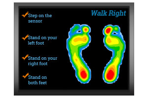 Image of the walk right system's user interface